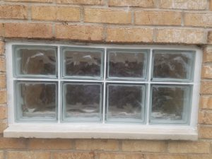 Small Glass Block Installation