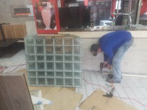 Indoor Glass Block Installation