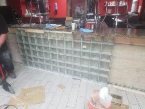 Indoor Glass Block Installation