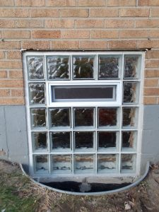 Glass Block Installation With Vent