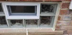 Small Glass Block Installation With Vent