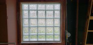 Glass Block Installation From Inside