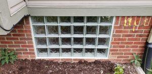 Small Glass Block Installation