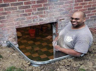 Chuck Cutting Window for Egress