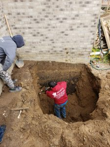 Digging Out Egress Well