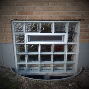 Glass Block Window Installation With Vent
