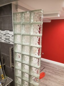 Glass Block Shower Wall Installation