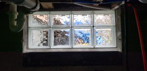 Small Glass Block Window Installation