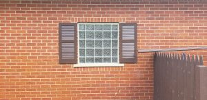 Outside View Glass Block Window