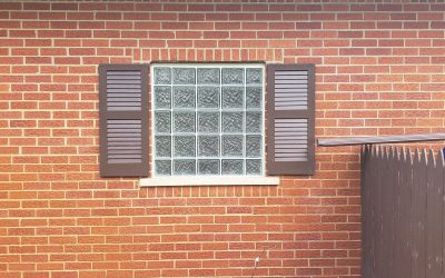 Outside View of Glass Block Window