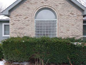 Outside View Glass Block Window