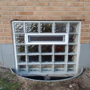 Lower Glass Block Window